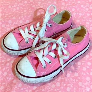 Girls Pink Converse Shoes